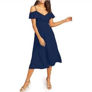 Show Me Your Mumu Ruffle Midi Dress